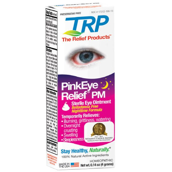 pink eye at night